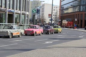 taxi on the road in berlin