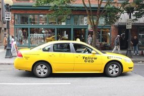 yellow taxi in Seattle