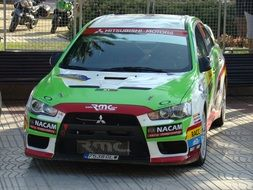 mitsubishi competition rally car