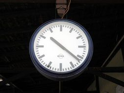 clock at the railway station