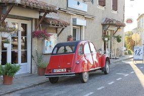 Red car in France