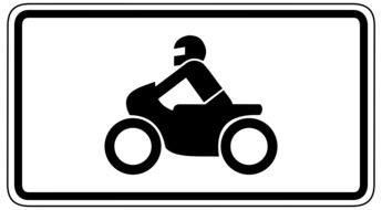motorcyclist sign