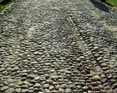 paved street from middle ages