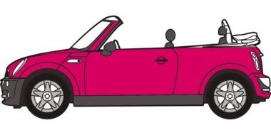 clipart of the pink mini cooper