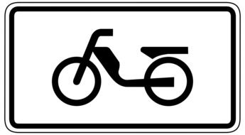 road sign road for mopeds