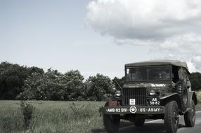 Military American jeep