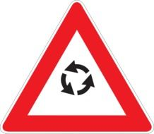 traffic sign for driving in a circle