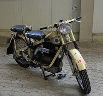 classic old motorcycle