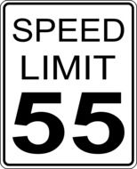 sign speed limit 55 kilometers