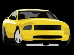 yellow automobile drawing
