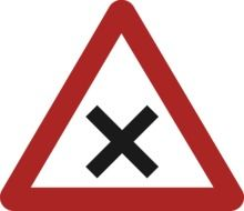 Clipart of danger warning road sign