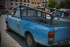 Old blue pick-up truck