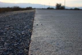 Close photo of asphalt road