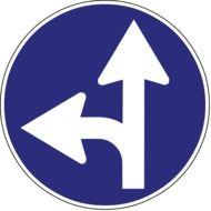road sign with arrows