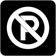 sign prohibiting parking