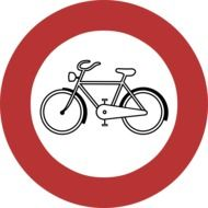 bicycle restriction road sign