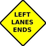 left lane ends drawing
