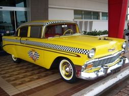 yellow old taxi
