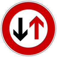 sign give priority to traffic