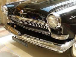 grille of vintage car in Moscow