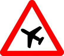 sign airplane transportation