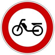 prohibition sign for mopeds