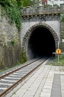 railway track to the tunnel