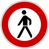 no traffic sign for pedestrians