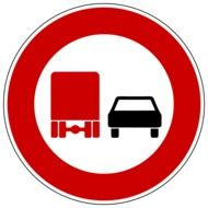 prohibitory sign overtaking freight