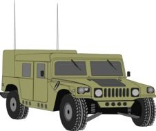 hummer vehicle drawing
