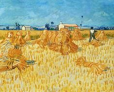 Harvest in Provence, painting by vincent van gogh