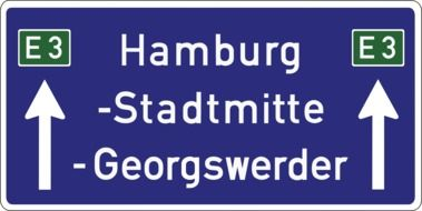 road sign with the names of cities