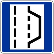 emergency stop road sign