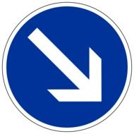 road sign with down arrow