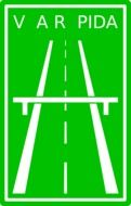 green expressway sign