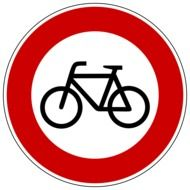 bicycle sign on a road sign