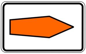 traffic sign with route recommendation