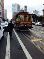 tourist tram in San Francisco