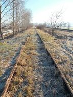 abandoned railway tracks