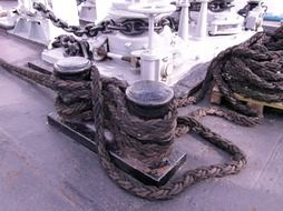 rope knot on the ship