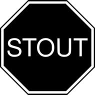 Clipart of stout sign