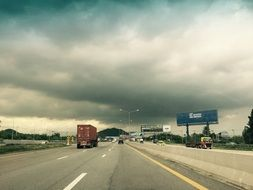 motorway on a cloudy day