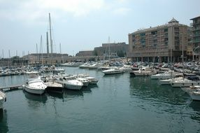 Yachts in the port of Savona