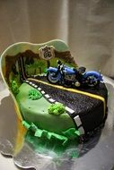 motorcycle cake decoration