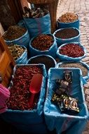 spices in the market in morocco
