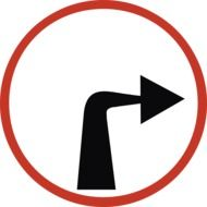 prohibitory turn sign