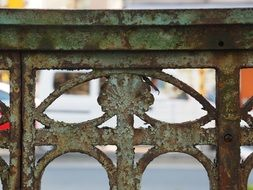 Picture of rusted fence