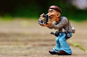 funny tourist photographer