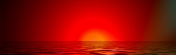 banner of red sunset
