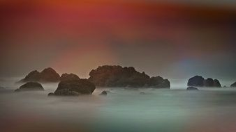 rocky coast atmosphere